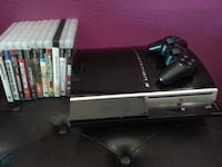 black Sony PS3  with Wir controller and 11 game c Las Vegas, 89123
