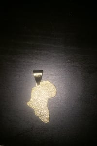 Africa key chain and goes on chain