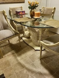 beige 5-piece dining set