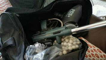 Paintball starter kit with silencer