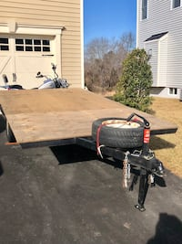 Flatbed Trailer - new tires, new jack stand and new brake light assembly w/spare tire Aldie, 20105