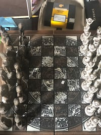 Hand carved wooden chess set Toronto, M6L 2P2