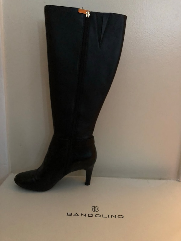 00c4eab4f13 Brand new in box Bandolino wide calf ladies size 6 black leather knee-high  boots