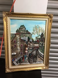 ANTIQUE & Stunningly incredible oil painting on canvas. Artist signed. The technique, the myriad of color. This piece is more than fantastic. Must see. Cash pick up only. Baldwin, 11510