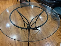"Glass dining table 42"" 477 km"