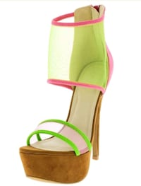Brand NEW! Pink & Green Stilettos - Sizes 8, 9 Sterling, 20166