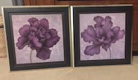 two black wooden framed painting of pink flowers Torrance, 90504