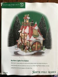 LIKE NEW - North Pole Series - Northern Lights Fire Station Whitby