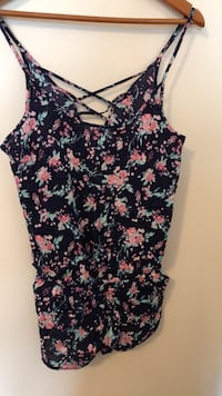 Floral shorts romper with pockets Toronto, M1C 2G2