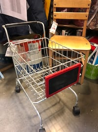 Child size metal shopping cart with chalkboard Avondale, 85323