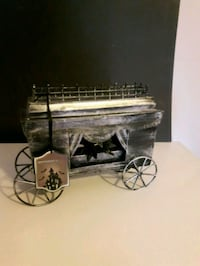 New with tags metal halloween hearse