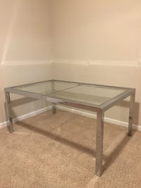 Mid-Century Modern Chrome and Glass Parsons Dining Table Potomac, 20854