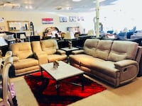 brown leather sofa set with coffee table Houston, 77055