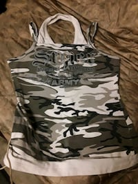 In Style USA gray camo womens army tank top Rosamond, 93560