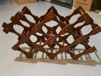 Wooden collapsible wine rack Georgina, L4P 4A8