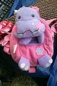 Lil Girls Hippo Backpack Purse