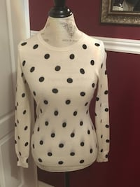 Polka dot cashmere sweater size xs Oakville, L6H 1Y4