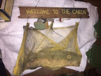 4 individual fishing decor wooden wall hangings cake from the strip mines in Ohio  Parkersburg, 26104
