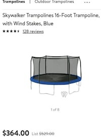 16 foot trampoline.read post