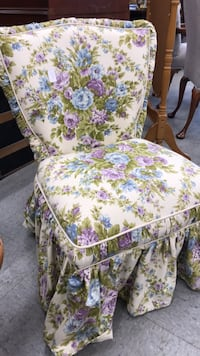 white, pink, and green floral print armchair Fort Washington, 20744