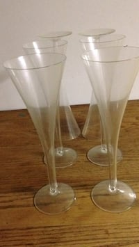 Champagne Italian glasses Set of 6 Takoma Park, 20912