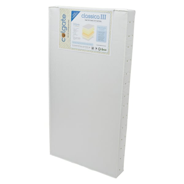 Colgate Classica III Foam Crib Mattress, Protector and Sheet.