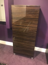 Brown wooden ikea cabinet - perfect condition - that is glare, not scratches  Cincinnati, 45248