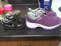 pair of black-and-purple Nike running shoes Calgary, T2H 2J8