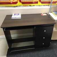 Brand new espresso study desk with 3 drawers and keyboard tray on sale  多伦多, M1S 4A9