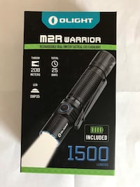 """Olight M2R Warrior 1500 Lumens Flashlight """" NEW""""/ USB Rechargable & comes complete with Everything/ $85 FIRM Whitestone"""