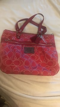 Authentic coach poppy red tote/purse. Like new, carried one time