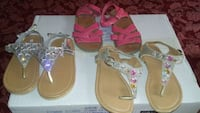Three pairs of sandals for little girl size 9 El Paso, 79903