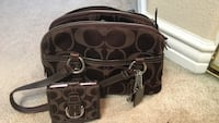 Purse- coach- authentic- purse and wallet, both for $75