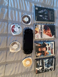 PSP with games & no charger