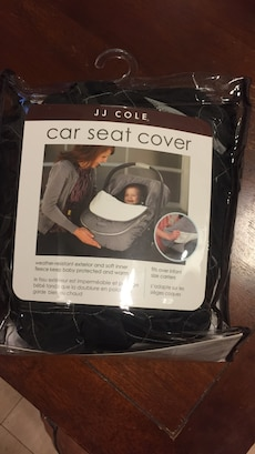 black JJ Cole car seat cover