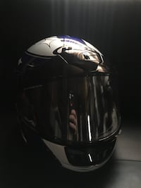 white, black, and blue full face helmet Caledon, L7C 3H6