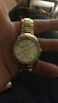Gold plated bulova with 24 real diamonds originally 799.99 and is no longer available on the market