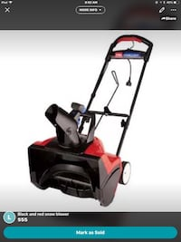 Black and red Snow Blower  Windsor, N9B 2X9