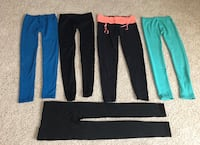 Women's Bundle of 4Pairs of Leggings +1 Pair of Tights Size S/M