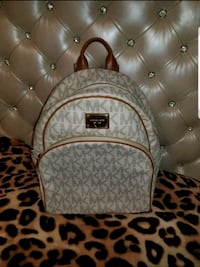 Michael Kors Abbey Jet Set Large Leather Backpack
