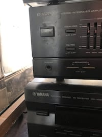 Kenwood Yamaha Stereo Equipment
