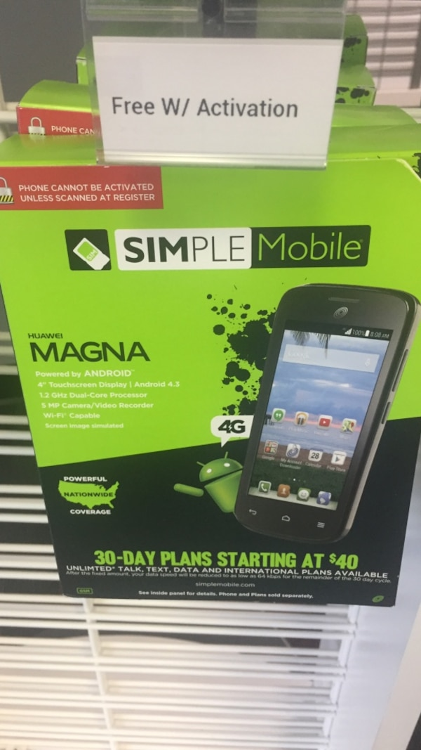 Used Simple Mobile Magna 30-Day Plans Starting at $40 box