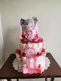 Diaper Cake for Baby Girl,  ready to sell!