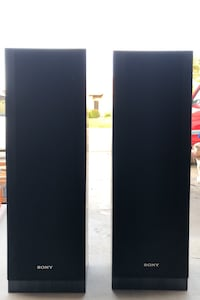 Black Sony Speakers