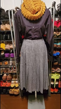 Button up and Wool skirt