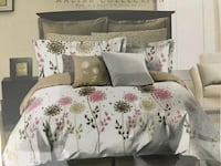 white and pink floral bedspread set Mississauga, L5W 1X5
