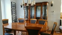National Mt. Airy hardwood dining table set Hollywood