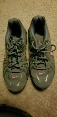 pair of gray-and-black Nike basketball shoes Phenix City, 36870