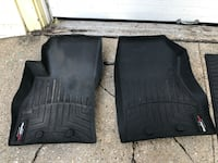 Black weathertech vehicle floor mat set