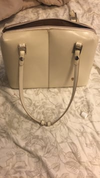 gray and white leather tote bag Calgary, T2Z 3C1